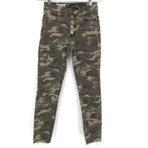 Kut From The Kloth High Rise Skinny Jeans Camo
